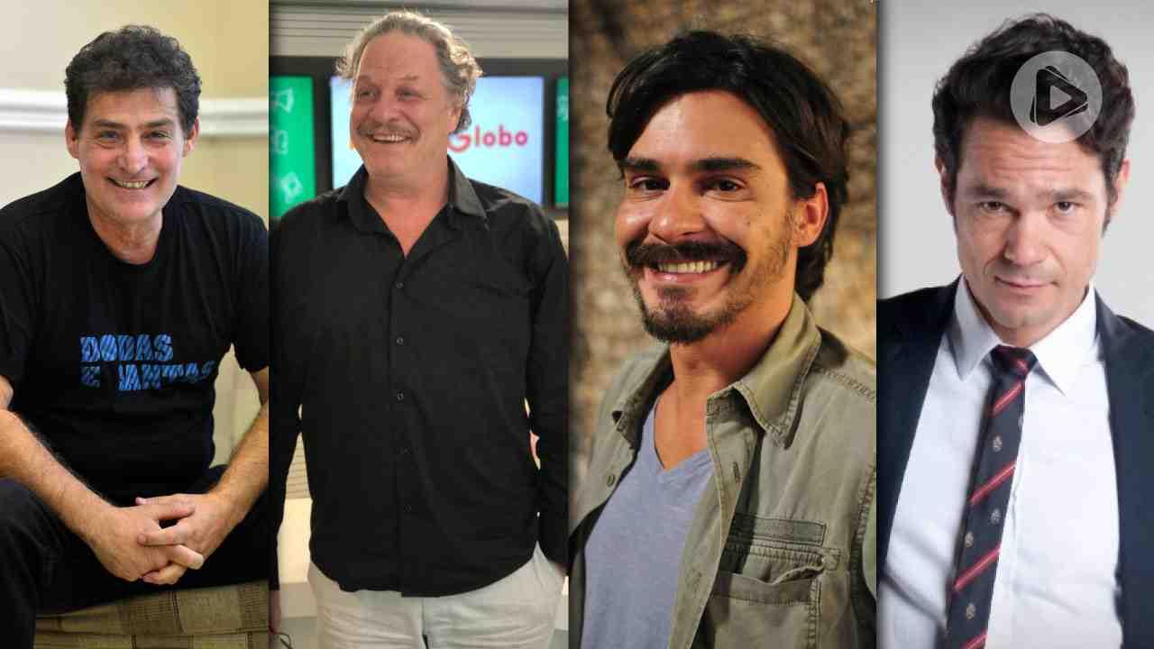 Giuseppe Oristânio, Ernani Moraes, André Gonçalves e Gabriel Gracindo  (Foto: Montagem/Alta Definição)