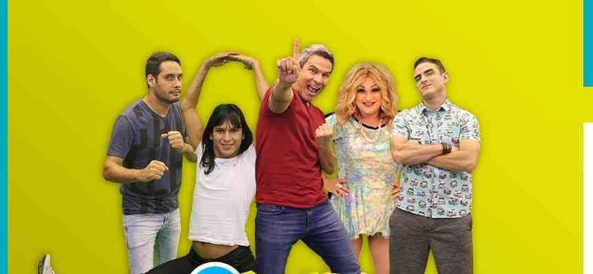 Jota Júnior, Adeildo B, Flávio Barra, Jurema Fox e Tiago Gondim  apresentam o 'Agora é Hora' (Foto: Reprodução)