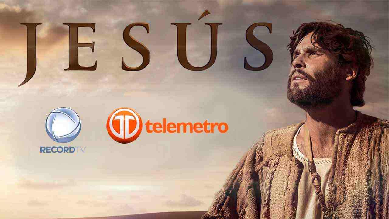 Anúncio da novela Jesus na  Telemetro (Foto: Reprodução)