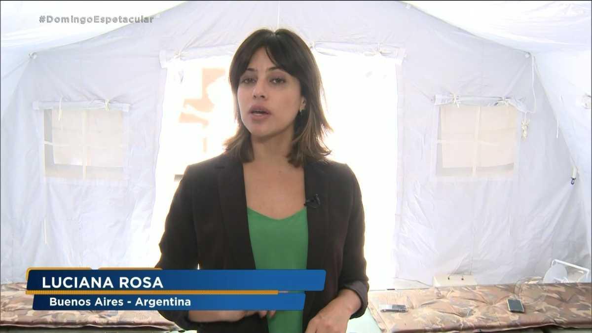 Repórter Luciana Rosa no Domingo Espetacular
