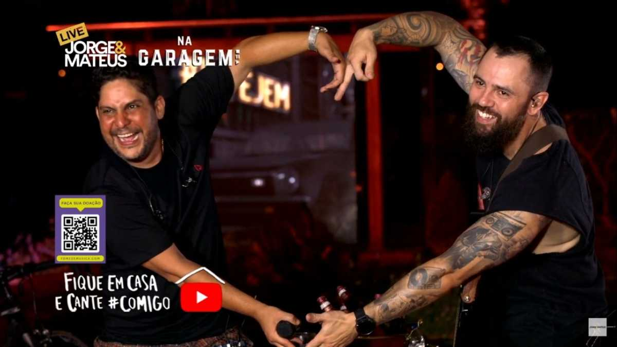 Live de Jorge & Mateus no YouTube