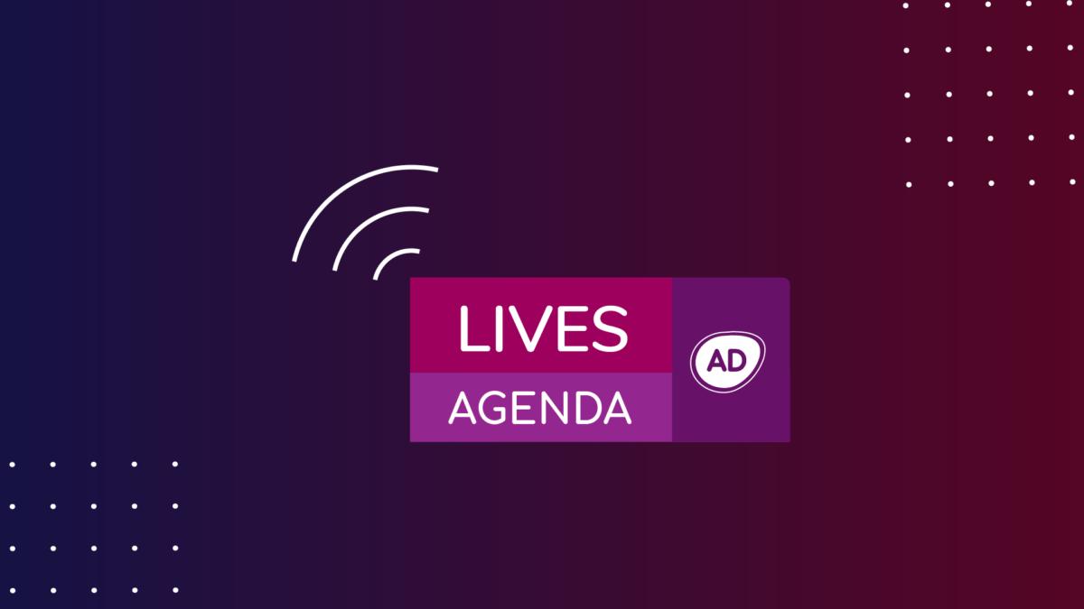 Logo da agenda das lives do Portal Alta Definição