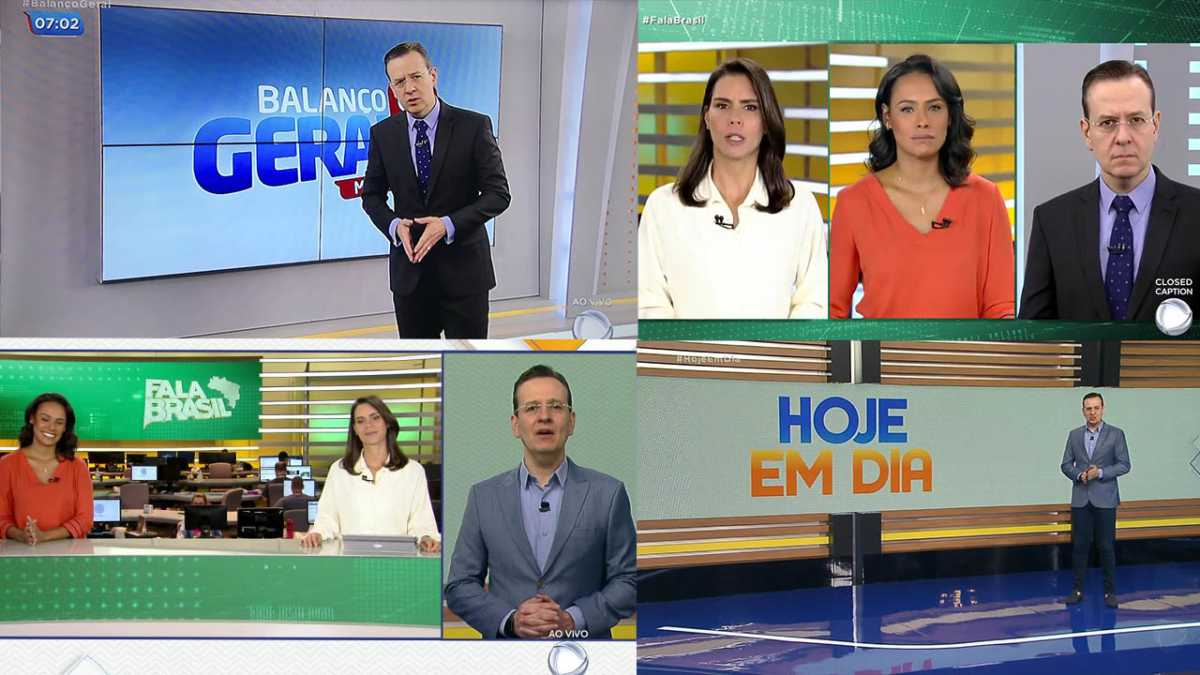 Celso Zucatelli faz expediente triplo na Record TV
