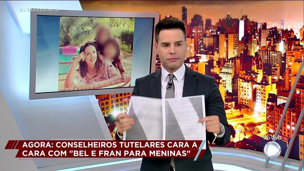Carta do Pai de Bel é exibida por Luiz Bacci no Cidade Alerta
