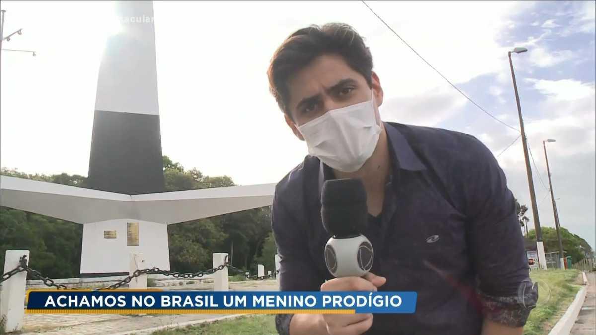 Lucas Veloso estreia no Achamos no Brasil do Domingo Espetacular