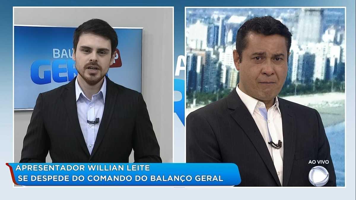 Willian Leite chora em despedida do Balanço Geral