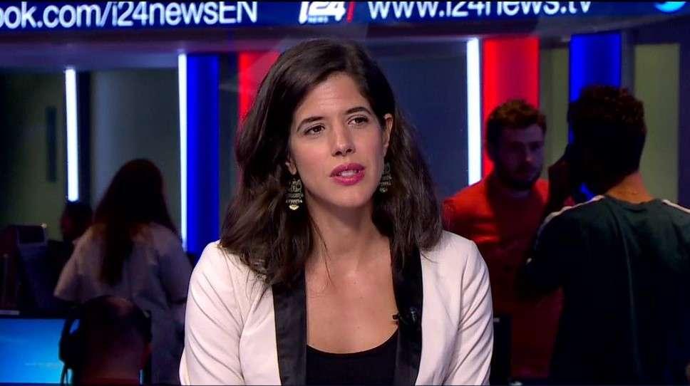 Bianca Zanini no canal i24, antes de se tornar a nova correspondente da Record TV em Israel