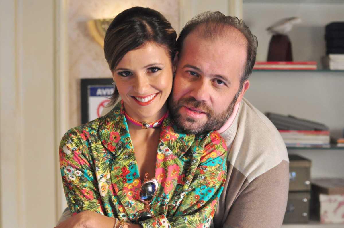 Otávio Muller e Fernanda de Freitas, intérpretes de Flavinha e Djalma nos bastidores de Tapas e Beijos