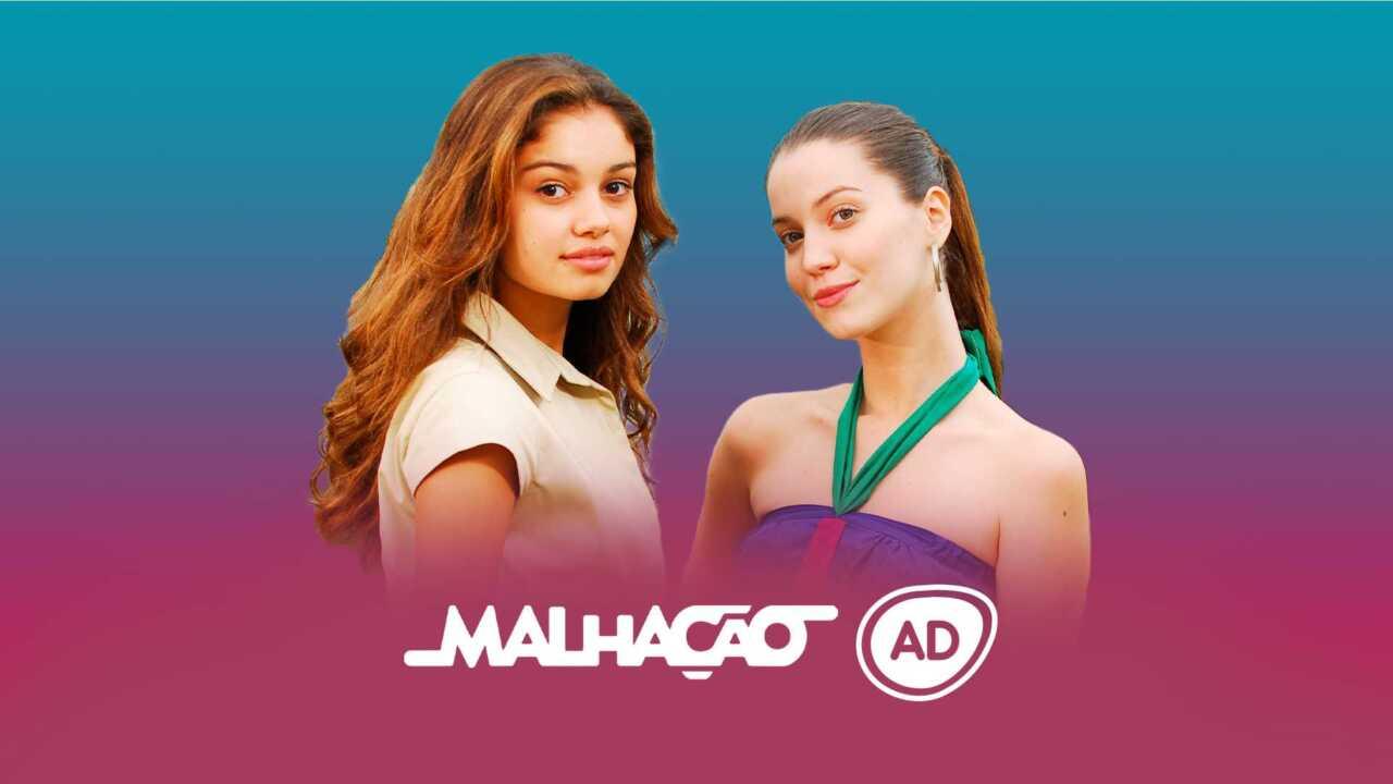 Logo do resumo de malhação 2008 com os protagonistas da novela