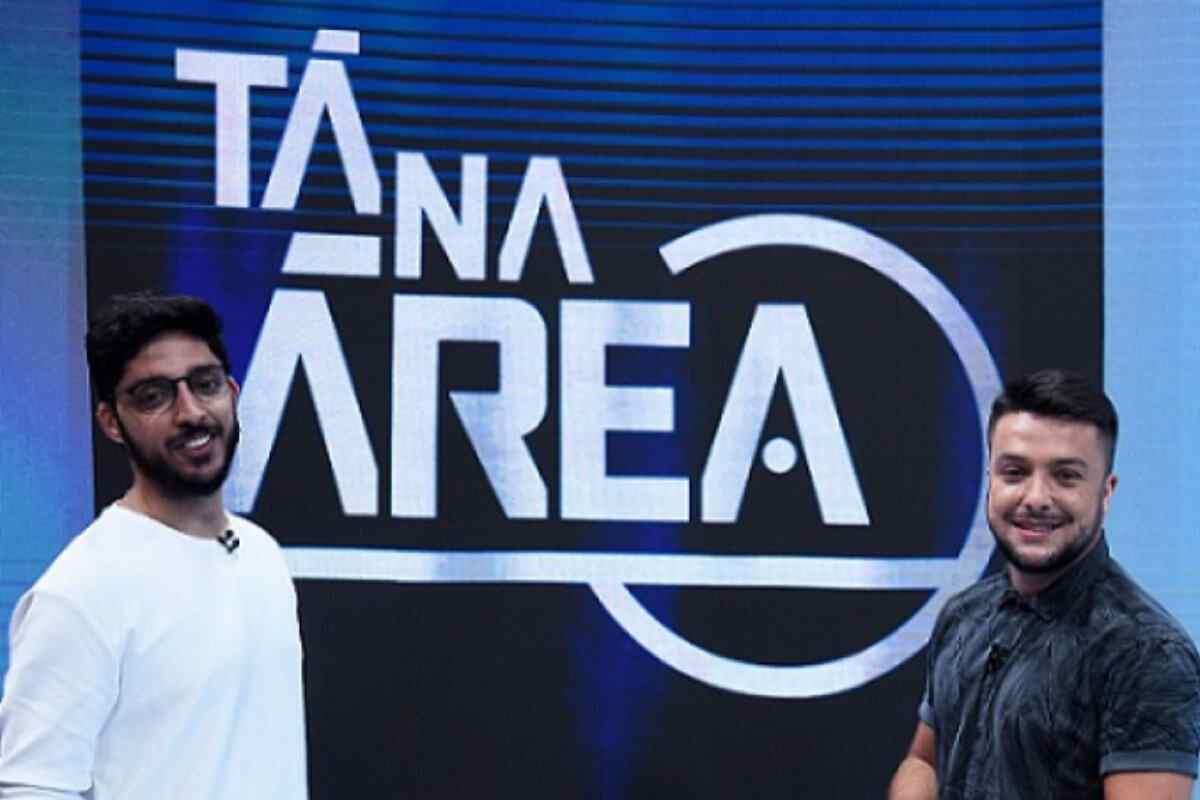 Magno Navarro e Igor Rodrigues, novos apresentadores do Tá na Área no SporTV