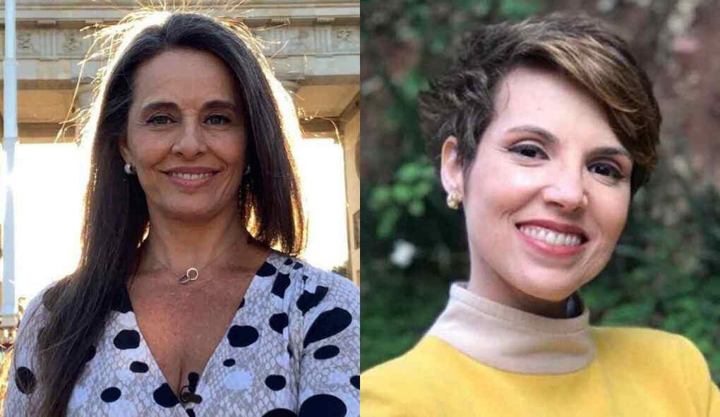 Carla Vilhena e Glória Vanique em uma montagem.