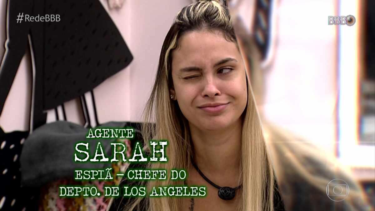 Sarah foi apontada como espiã chefe no VT especial do BBB